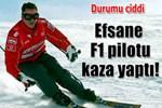Michael Schumacher kaza geçirdi!