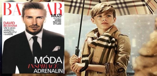 Küçük Beckham, babasının izinde!