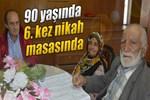 90 yaşında 6. kez evlendi!..