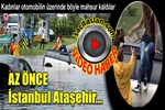 İstanbul'da üç araç mahsur kaldı!