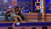 Serenay Aktaş'tan futbol şov!