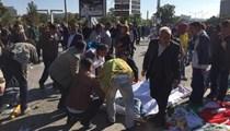 Ankara'da korkunç patlama anı!