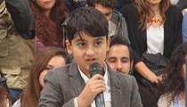 9 yaşındaki Yamaç Kılıçdaroğlu'nu terletti