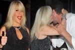 Samantha Fox'tan Cemal Hünal'a öpücükler
