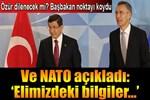 Stoltenberg ve Başbakan Davutoğlu'ndan flaş açıklamalar