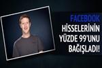 Mark Zuckerberg Facebook hisselerini bağışladı!