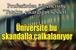Karabük Üniversitesi'ni sallayan skandal sözler!..