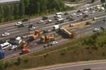 TEM'i kilitleyen trafik kazası!...