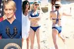 'First Lady' bikinili sobelendi!..