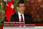 Başbakan Davutoğlu'ndan 'seçim barajı' açıklaması!