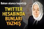 Türbanlı Bakan'dan ilginç tweetler!