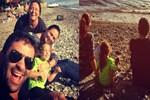 Ceyda Düvenci'nin şen şakrak tatili