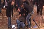 Taksim'de karla imtihan!
