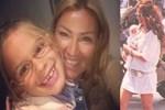 Pınar Altuğ 7 yaşına basan kızıyla poz verdi