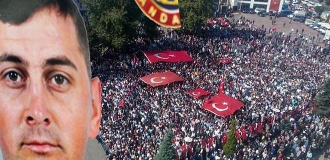 Şehit Uzman Onbaşı Sercan Öklük'ü 15 bin kişi uğurladı