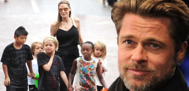 Brad Pitt oldukça duygusal anlar yaşadı