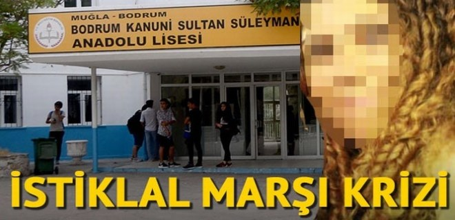 Okulda İstiklal Marşı krizi: Müdür yardımcısına soruşturma