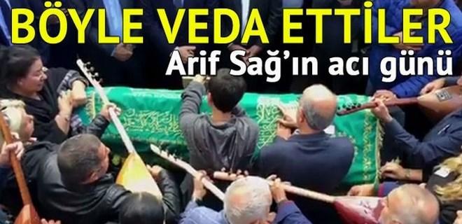 Arif Sağ'ın eşi son yolculuğuna uğurlandı