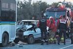 Ayvalık'ta dehşet veren trafik kazası!