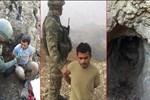 Yaralı PKK'lı mağarada yakalandı