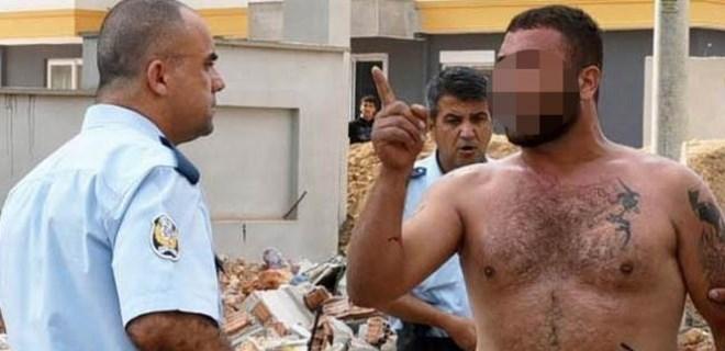 Polislerin yüzüne tiner döktü!..