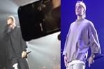 Justin Bieber cam kafeste sahneye çıktı