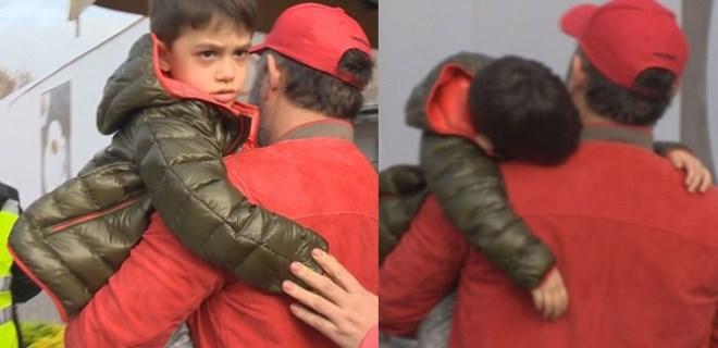 Küçük Kemal'e baba şefkati
