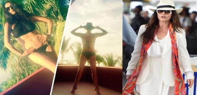 Catherine Zeta-Jones'un bikinili paylaşımı rekor kırdı