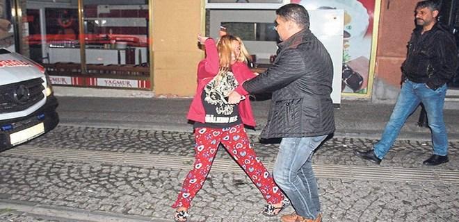 Genç kadın mahalleyi ayağa kaldırdı!