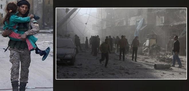 Halep'in doğusu 'yiyeceksiz kent'