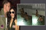 Sinan Akçıl yeni aşkıyla havuza girdi