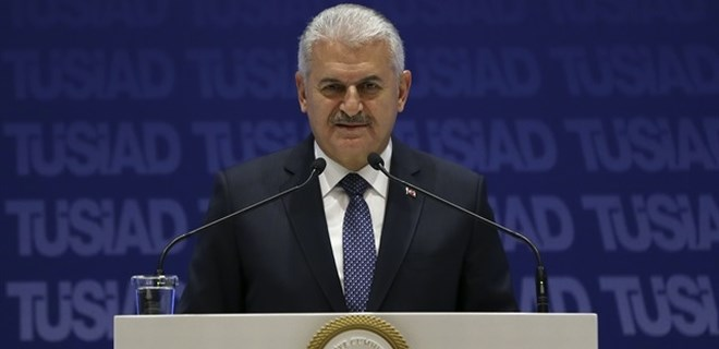 Başbakan Yıldırım'dan TÜSİAD'da konuştu