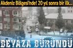 Mut'ta 20 yıl sonra ilk kez kar yağdı