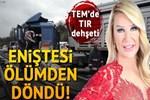 TEM'deki TIR kazası trafiği felç etti