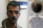 PKK'lı terörist pisliğin içinden çıktı