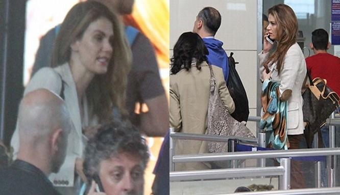 Tülin Şahin havalimanında olay çıkardı!..