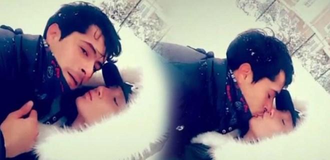 İsmail Hacıoğlu'ndan eşine ateşli öpücük
