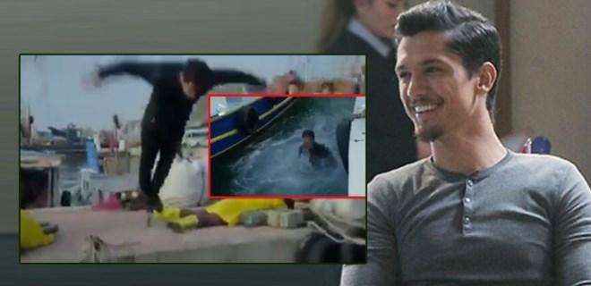 Boğaç Aksoy, rol gereği eksi 3 derecede suya atladı