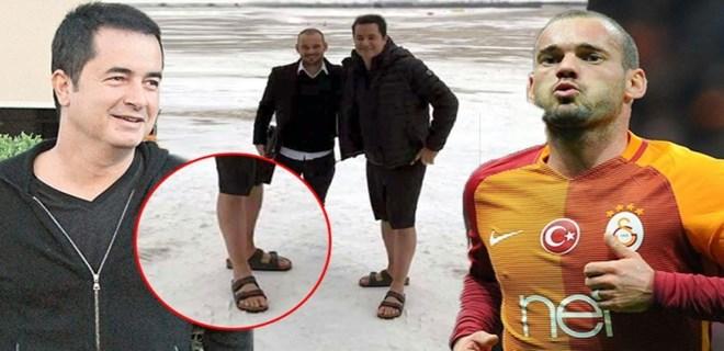 Acun Ilıcalı ve Sneijder'in uçağı Çorlu'ya indi