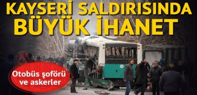 Kayseri'deki bombalı saldırıyla ilgili 20 kişi tutuklandı!