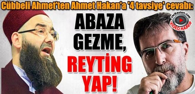Cübbeli Ahmet'ten Ahmet Hakan'a: