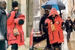 Rihanna kapüşonundan önünü göremedi