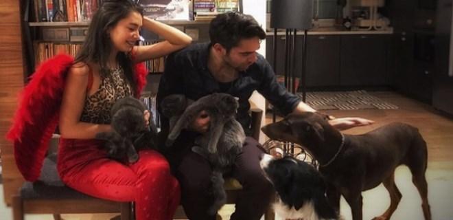 Neslihan Atagül ile Kadir Doğulu'nun 7 kişilik ailesi