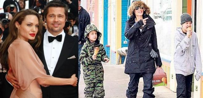 Angelina Jolie'nin Brad'siz ilk tatili!