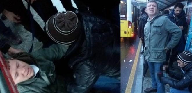 Yenibosna Metrobüs durağında bıçaklı saldırı!