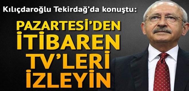 Kemal Kılıçdaroğlu Tekirdağ'da konuştu