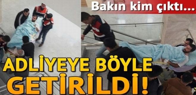 Gri listedeki PKK'lı adliyeye böyle getirildi