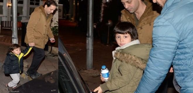 Kaan Tangöze oğullarıyla buluştu