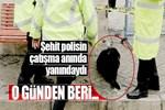 Şehit polisin beslediği köpek kulübenin önünden ayrılmadı