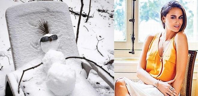 Eda Taşpınar stili kardan adam!